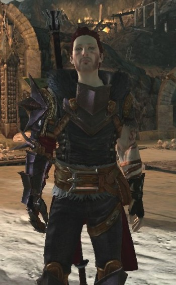 Zel Hawke after earning his Champion armor. He's a scruffy, auburn-haired white man in his twenties, wearing pointy mage armor.