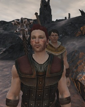Zel Hawke standing in the foreground, with his brother Carver standing over his left shoulder.
