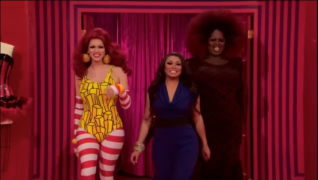 The drag professors: (L to R) Manila Luzon, Jujubee, and Latrice Royale.